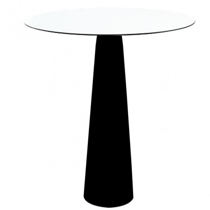 Hopla Table Ronde 110cm O79cm Noir Laque Par Slide Design