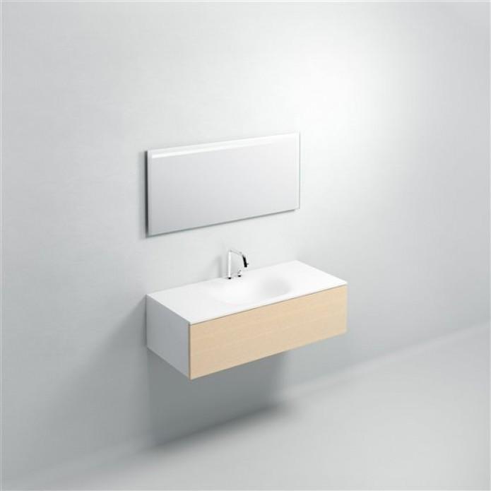 Miroir avec éclairage 110 x 50 cm Led et sys de suspension