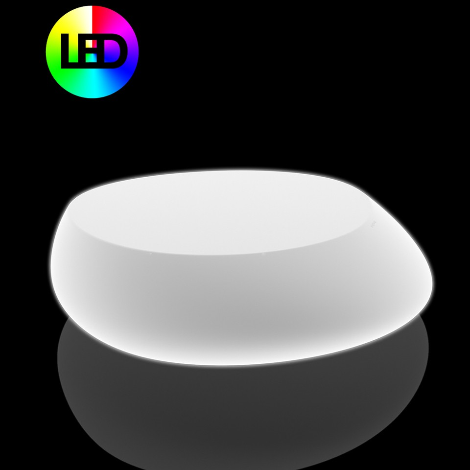 Stone Table Basse Lumineux Leds Rgb Par Vondom