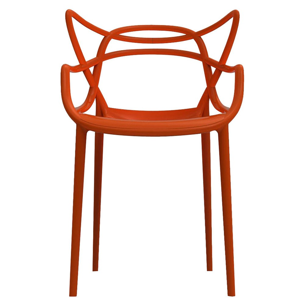4 Chaises Masters Rouge Orang KARTELL