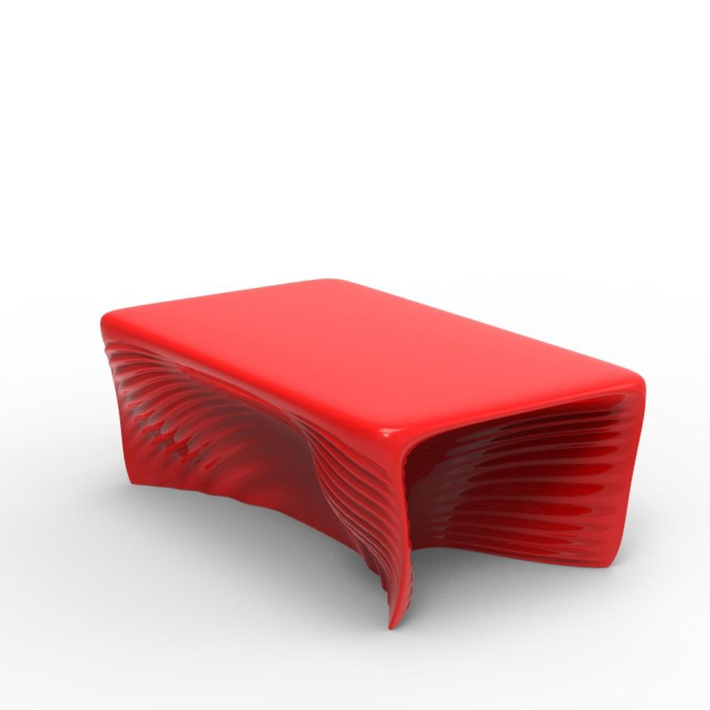 Biophilia Table Basse Rouge Laque Par Vondom