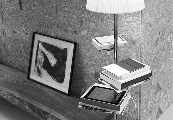 Bibliothèque nationale lampadaire par flos