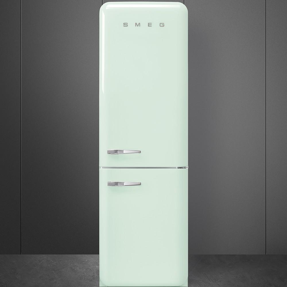 official supplier entire collection exquisite design Année 50 Réfrigérateur-Congélateur Combiné Froid Ventilé Vert d'eau  charnières à droite