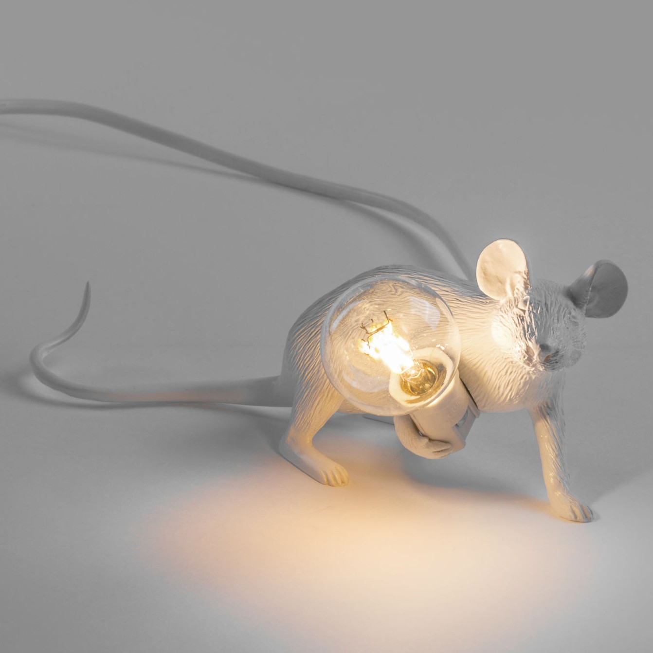 Collection Lampes A Poser Mouse Lamp Blanche Par Seletti