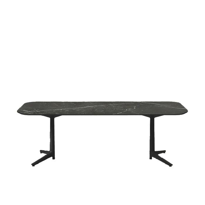 Multiplo Xl Table Rectangulaire Exterieur Noir Plateau Gres