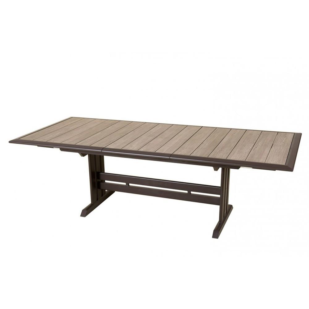 105 Structure Aluminium Hpl Table Et Extensible Lattes Bois 217320 X Plateau Hegoa BhQdCxosrt