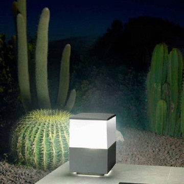 borne eclairage exterieur kube h23cm anthracite - Eclairage Exterieur Piscine
